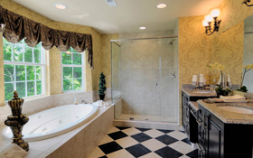 new homes for sale in bucks county pa villas of newtown cherry model interior master bathroom